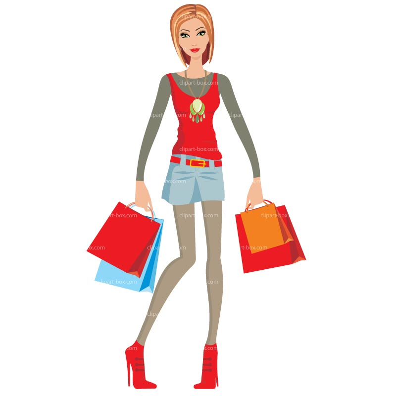 Woman shopping clipart free download clip art.