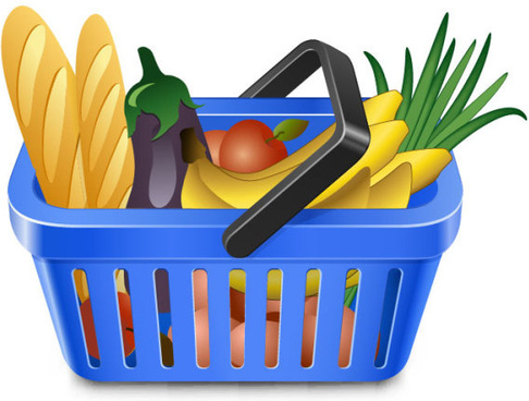 Supermarket shopping clipart free vector download (4,850.