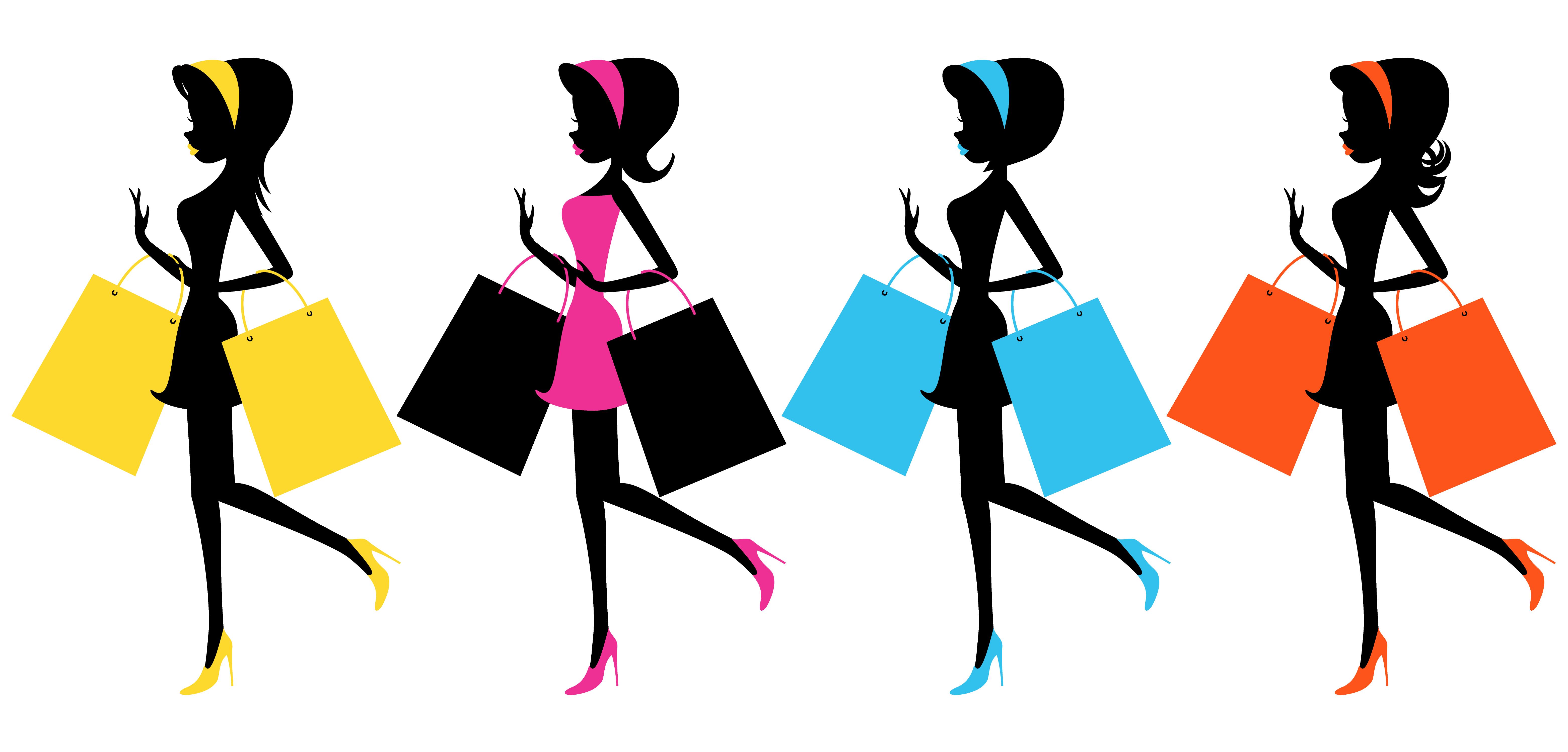 Friends shopping clipart 3.