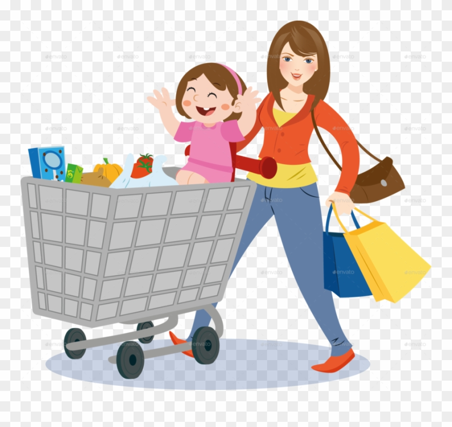 Mom Grocery Shopping Clipart Shopping Grocery Store.