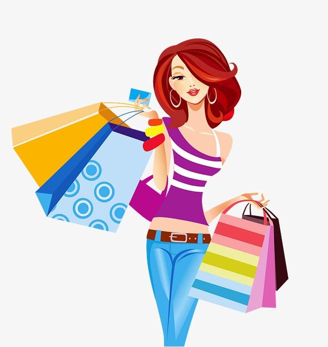 Girl shopping clipart png 3 » Clipart Portal.