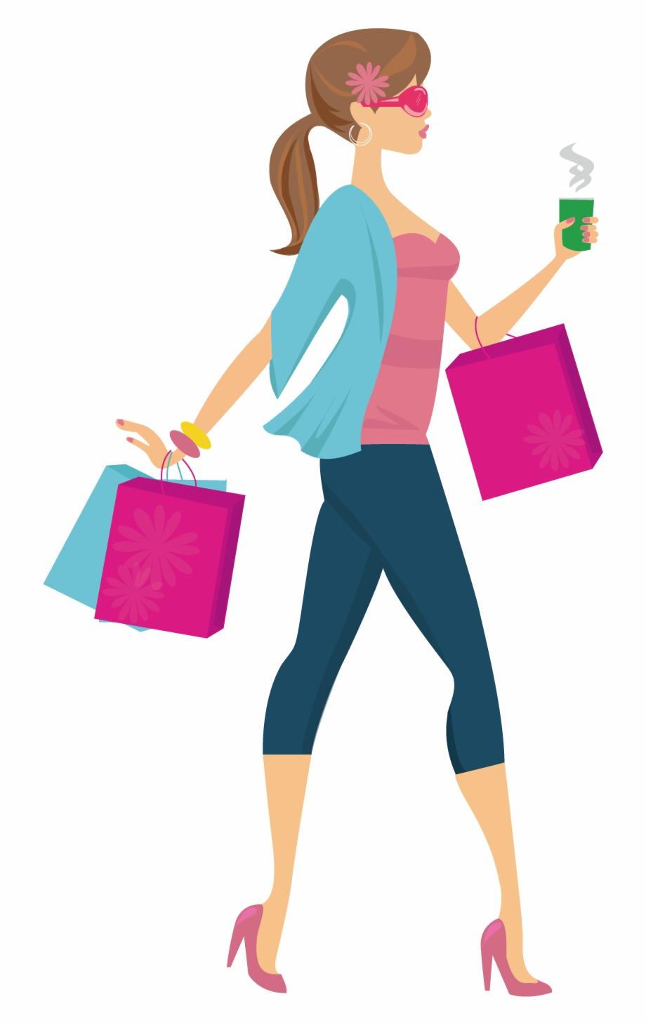 Shopping Woman Clip Art.