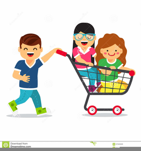 Free Clipart Girls Shopping.