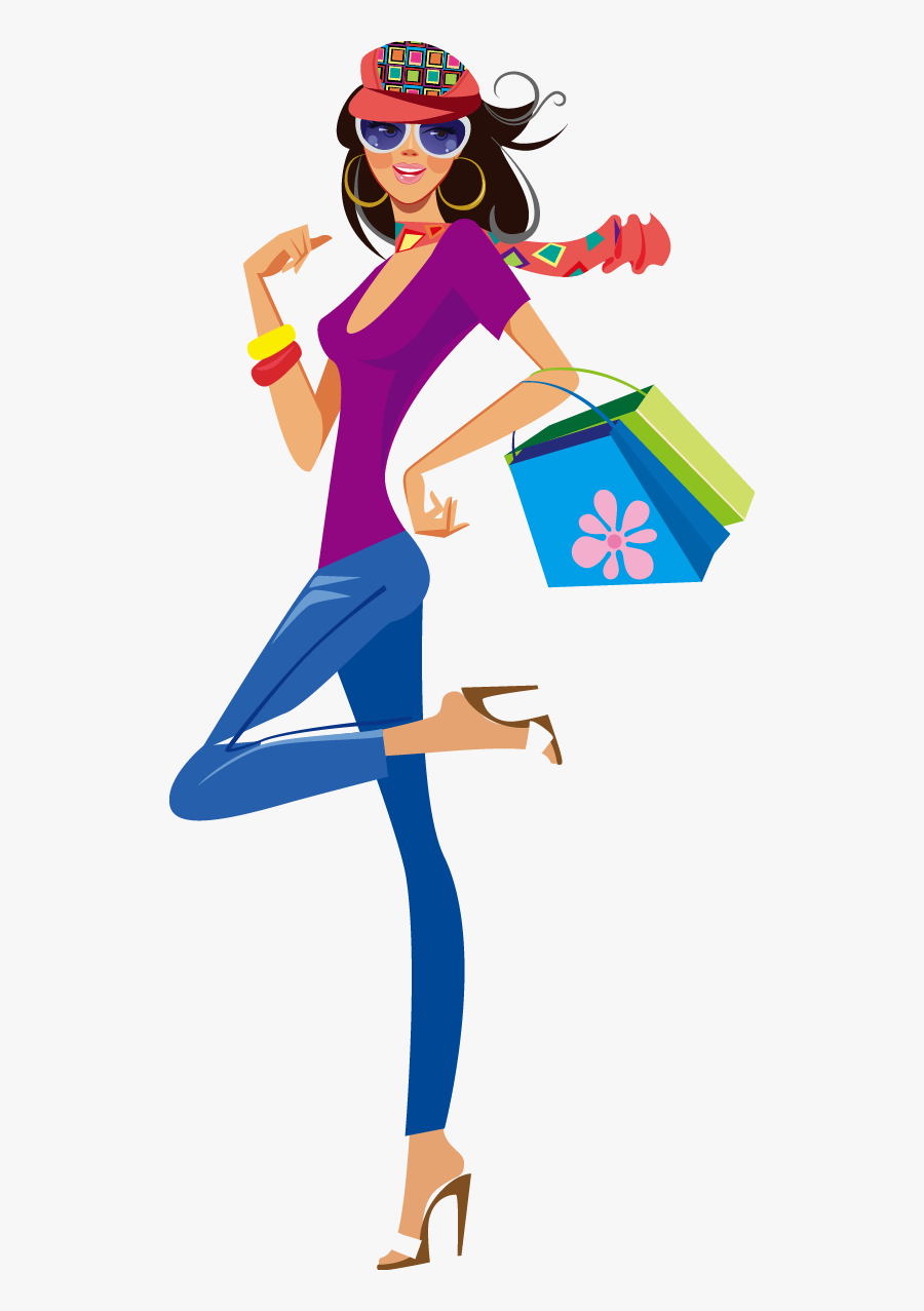 Shopping Clothing Illustration.