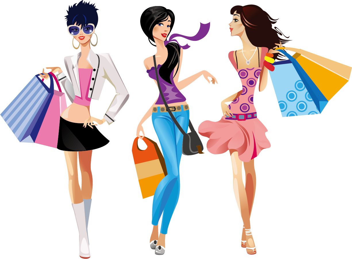 Free Shopping Girl Cliparts, Download Free Clip Art, Free.