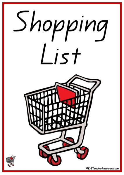 52 Shopping List Words.