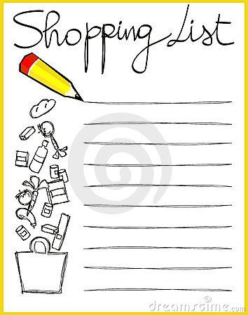 Clip Art Shopping List Clipart.