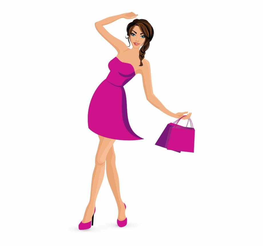 Girl Shopping Logo Design.