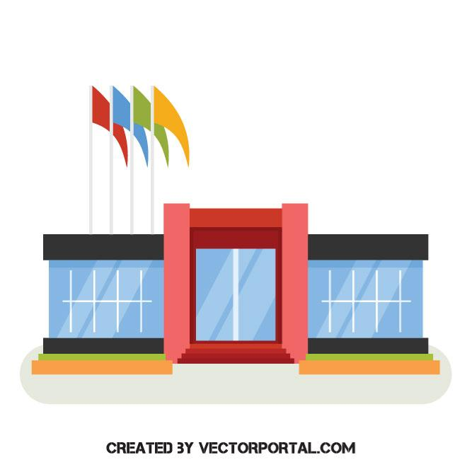 Shopping mall vector clip art.