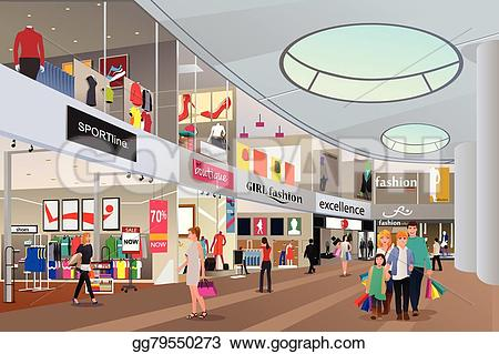 Shopping mall clipart #2