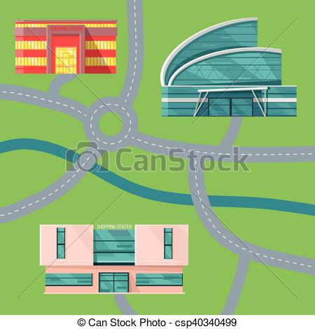 EPS Vectors of Shopping Center Concept Map Vector Illustration.