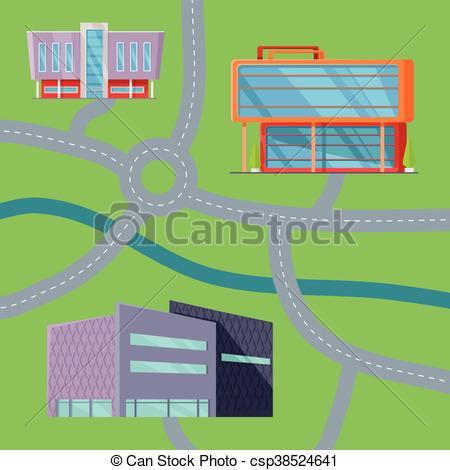 EPS Vector of Shopping Center Concept Map Vector Illustration.