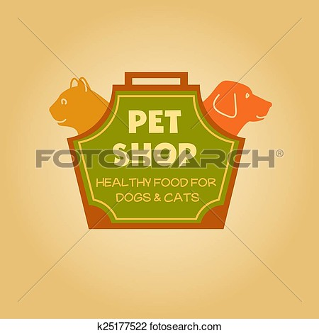 Pet Food Shop Clipart.