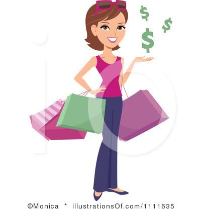 Clip Art Shopping Spree Clipart.