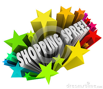 Shopping spree clipart #15