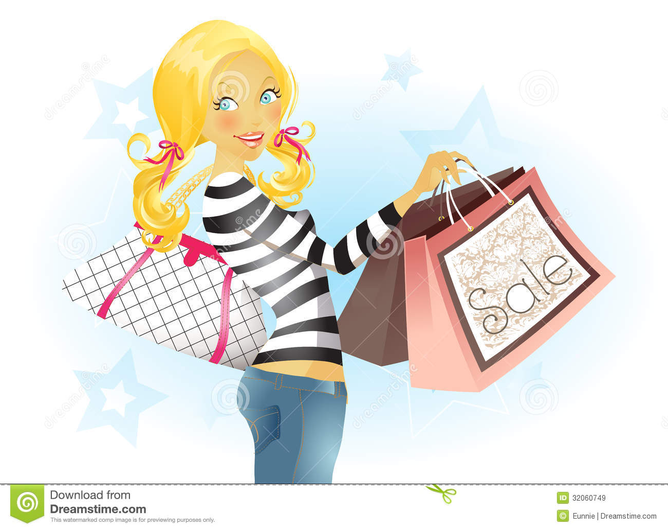 Shopping Spree Clipart.