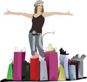 Shopping Spree Clipart.