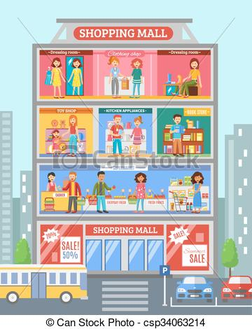 Shopping Center Clipart Clipground