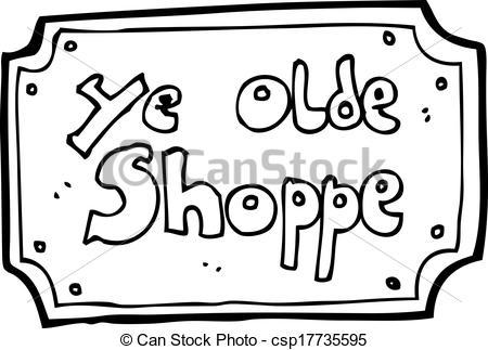 EPS Vectors of cartoon old fake shop sign csp17735595.