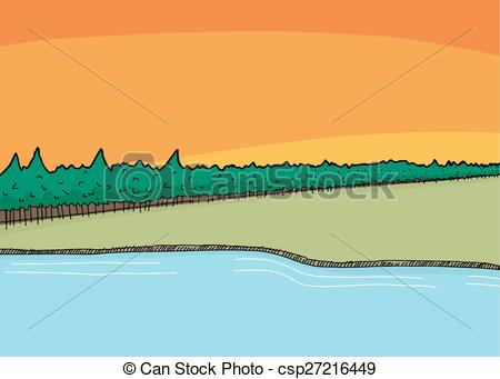 Shoreline Clip Art.