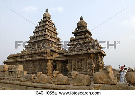 Stock Photography of Low angle view of a temple, Shore Temple.