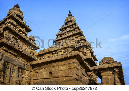 Picture of Ancient Shore temple in Mahabalipuram.