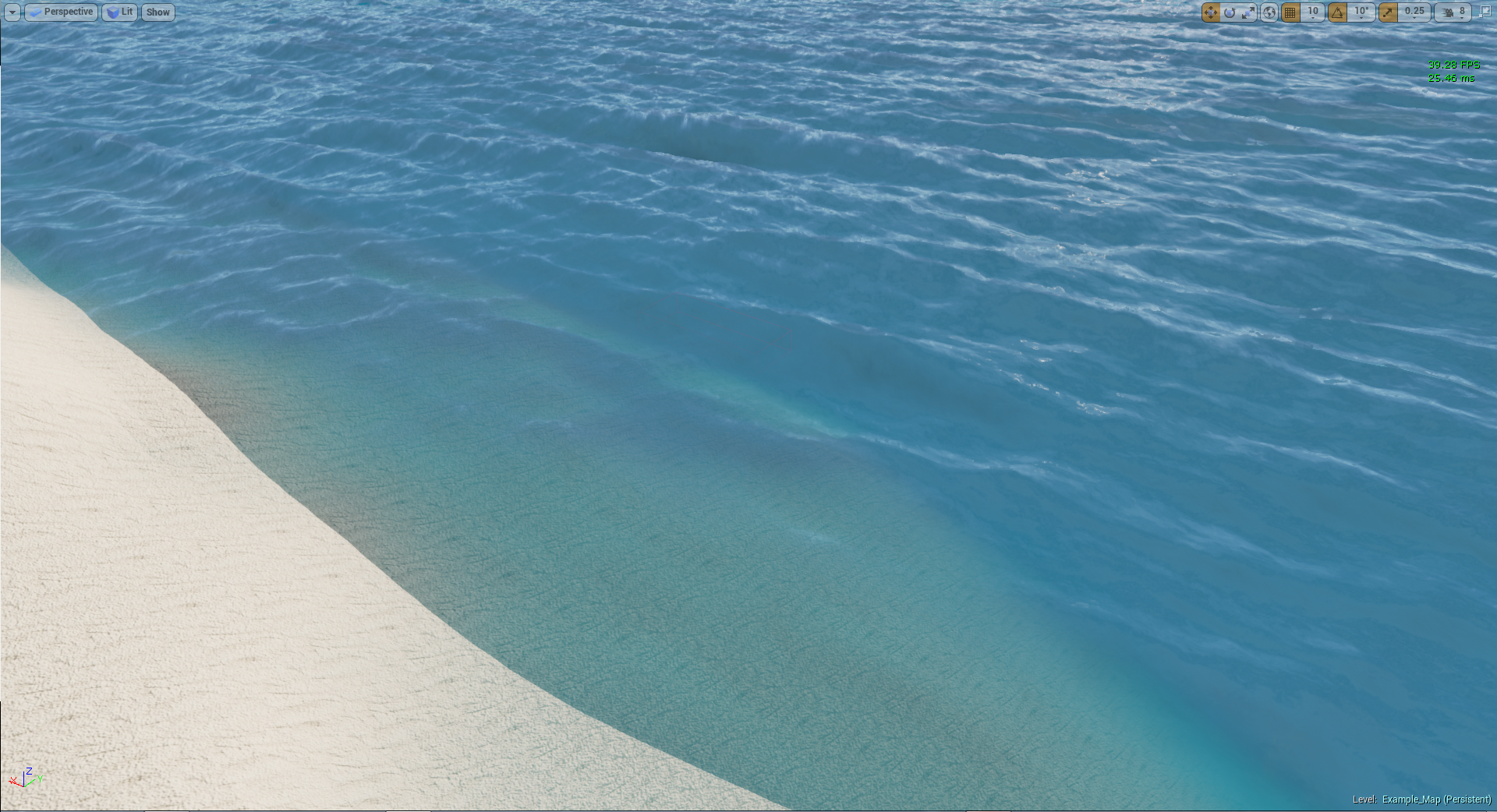 Ocean Material (UE4) WIP — polycount.