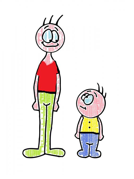 Short And Tall Clipart.