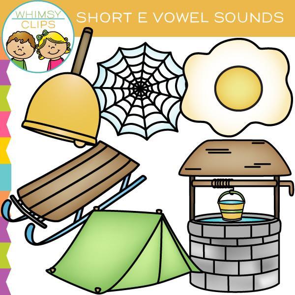 Short E Vowel Sounds Clip Art.