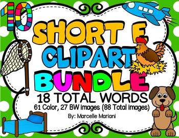 SHORT VOWEL E Clipart Bundle.