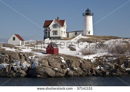 Maine Winter Stock Photos, Royalty.