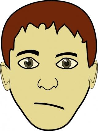 Boy with short hair clipart.