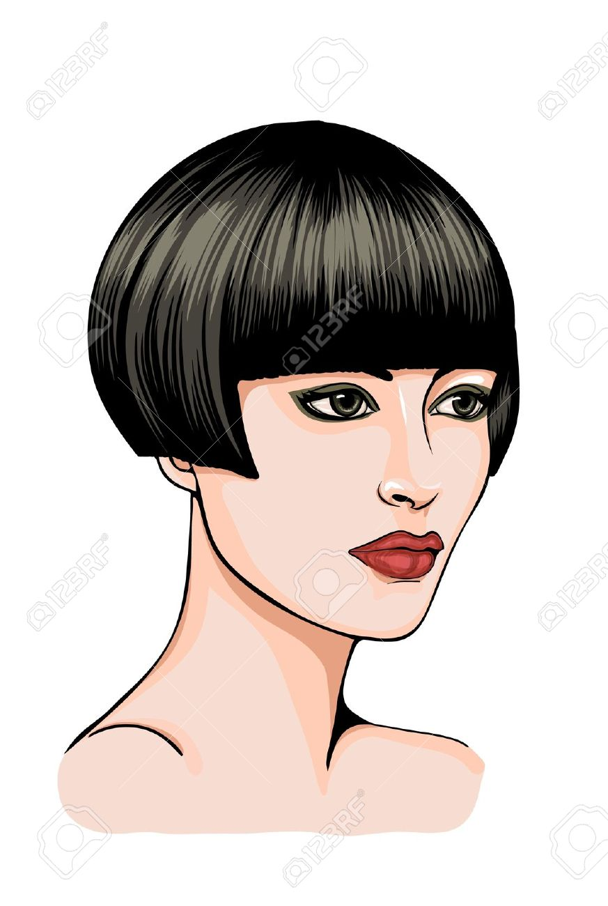 Clipart short hair.