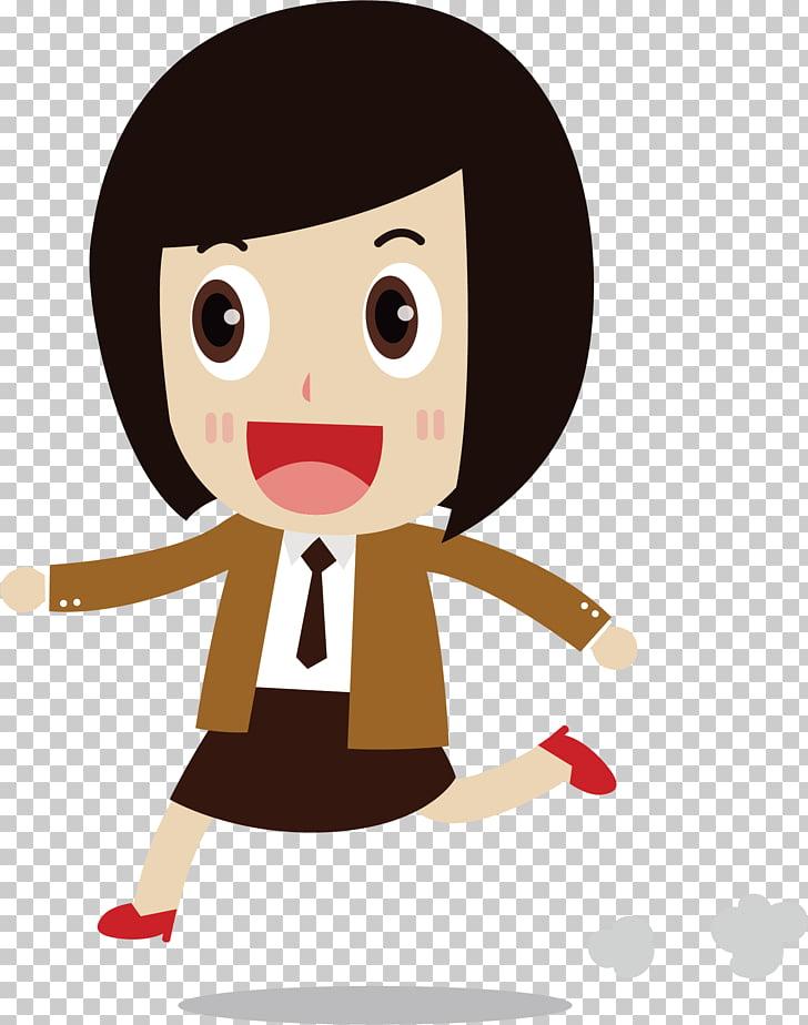 Hair Girl , short hair girl PNG clipart.