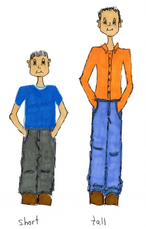 Short Person Next To Tall Person Clip Art 88227.