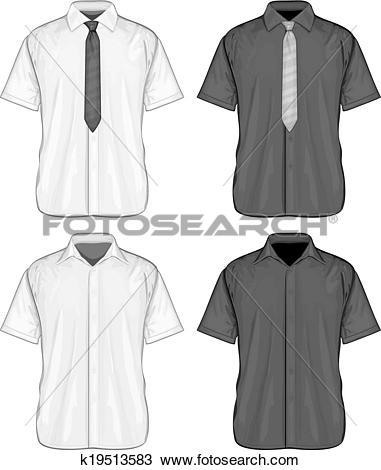 Clipart of Short sleeve dress shirts k19513583.