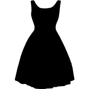 Retro Dress clip art.