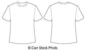 Vector Clipart of white shirt.
