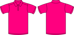 Hot Pink Short Sleeved Polo Shirt Clip Art at Clker.com.