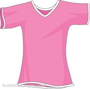 Clipart Picture of a Small Pink T.