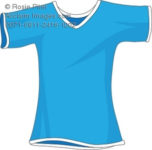 Blue Short Sleeve Clipart.