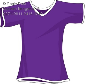 A Purple Shirt With Short Sleeves Royalty Free (RF) Clip Art Picture.