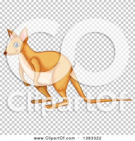 Clipart of a Cute Wallaby.