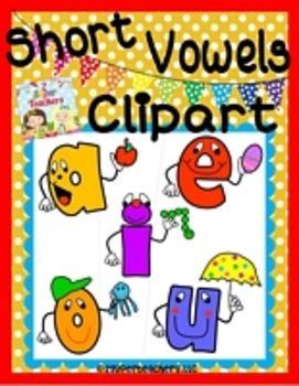 Clipart {Short Vowel Characters}.