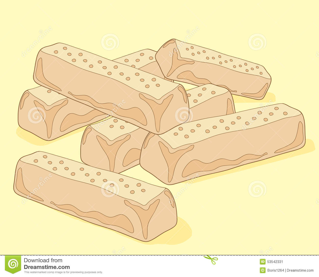Shortbread Stock Illustrations.