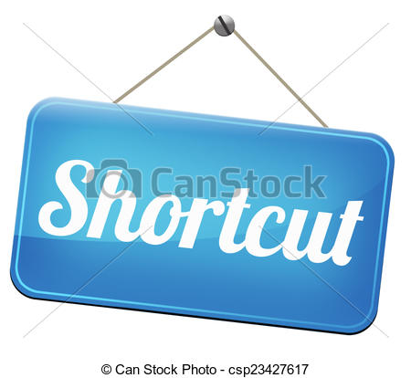 Clipart of shortcut short route cut distance fast easy way bypass.