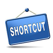 Clip Art of shortcut k17371472.