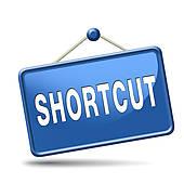 Clip Art of shortcut k17371472.
