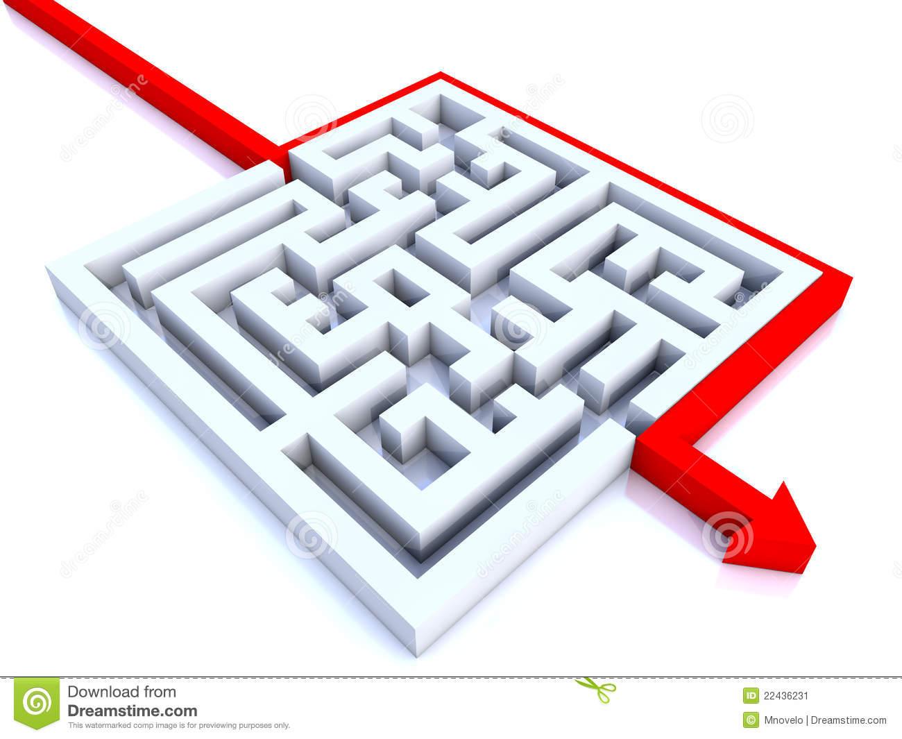 Maze Shortcut Stock Illustrations.