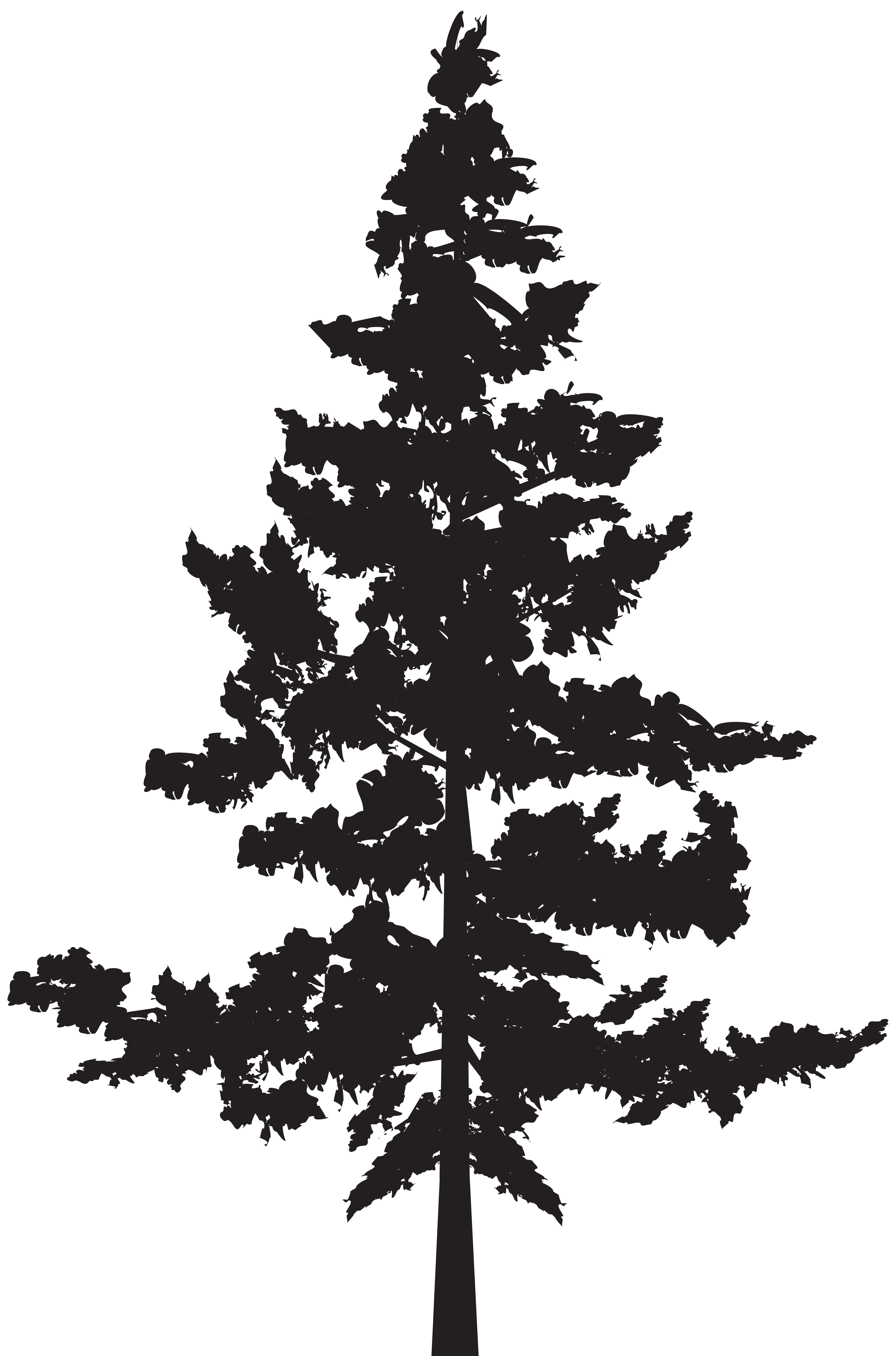 Tree PNG Silhouette Clip Art Image.